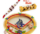 Peacock Rakhi thali and Ferrero Rocher Hamper, only hamper