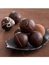 Dark Chocolate Truffles Gift Box (12 Pc.) (8 Oz)