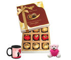 Chocholik My Special Love Treat With Love Mug And Teddy - Luxury Chocolates