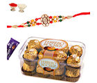 Divine Rakhi with Ferrero Rocher Chocolates