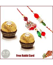 Bhaiya Bhabhi Rakhi with 2 Piece Ferrero Rocher