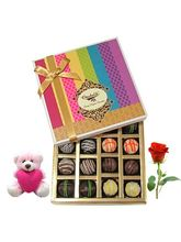 Chocholik Colorful Treat To Your Love With Teddy A...