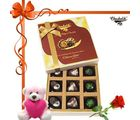 Chocholik 9pc Divine Treat To Your Brother With Rose And Teddy– Belgium Chocolates
