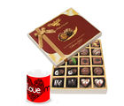 Chocholik Delightful Surprise Of Dark And Milk Chocolate Box With Love Mug - Belgium Chocolates