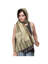 Beige Cotton Scarf/Stole