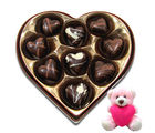 Chocholik Delicate Chocolates Surprise With Teddy - Belgium Chocolates