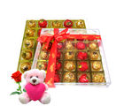 Chocholik Delectable Flavours Special Gift Chocolate Box With Teddy and Rose - Luxury Chocolates