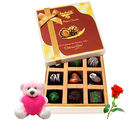 Chocholik The Royal Delicious Chocolate Treats With Teddy and Rose - Luxury Chocolates