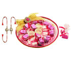 Pink Kundan Chocolate tray