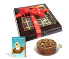 Chocholik Belgium Chocolate Gifts - Dark Choco-Fruit Cake Delight with Sorry Card