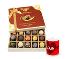 Chocholik Flavourful Truffles Collection With Love Mug - Belgium Chocolates