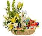 Basket of Assorted Flowers & Chocolates