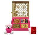 Chocholik Executive Favorite Gift Box With Teddy And Love Card - Premium Gifts