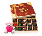 Chocholik Magical Divine Chocolate & Teddy and Rose Gift Hamper- Belgium Chocolates