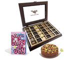 Chocholik Belgium Chocolate Gifts - Choco Dry Fruit Birthday Treat
