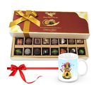 Chocholik Extra Dark And Milk Chocolates With Christmas Mug - Belgium Chocolates