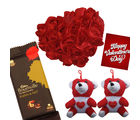 Red Rose Heat Cushion with Teddy And Delicious Bornville