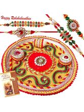 Shower of Blessings Rakhi Thali