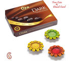 Terracota Diyas With Oya Dark Chocolates Box