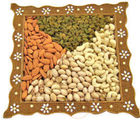 Bikanervala Rustic Indian Square Dry Fruit Tray (600 gm)