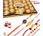 24 pc Ferrero Rocher Chocolate and set of 05 Rakhi Hamper