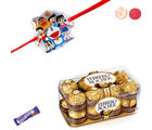 Siddhi Sales Doremon Kids Rakhi With Ferrero Rocher
