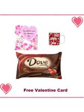 Valentine'S Day Themed Coffee Mugs With Dove Chocolate