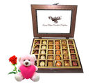 Chocholik Delicious Treat Of Best Chocolates With Teddy and Rose - Belgium Chocolates