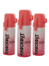 Women Self Defence Knockout Pepper Spray 3 Pc. Set...