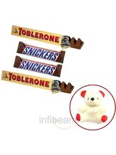 Toblerone And Snickers With Free Teddy (200 Gm)
