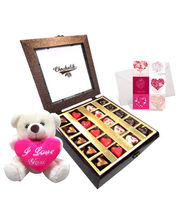Chocholik Belgium Chocolate Gifts - Choco Expression With Lovely Teddy