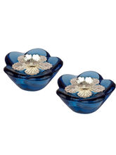 Auspicious Blue Set Of 2 Diya