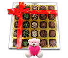 Chocholik Gift For Any Occasion With Teddy - Belgium Chocolates