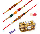 Siddhi Sales 16 Pc Ferrero Rocher With Set Of 03 Colorful Rakhis