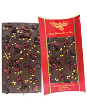 Chocholik Belgium Chocolate Gifts - 60% Intense Belgian Dark Chilli & Cranberry Bar
