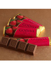 Set Of 5 Milk Chocolate Strawberry Truffle Bars (7.5 Oz)