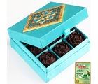 Blue Chocolate Roses Box