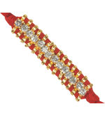 Diamond Studded Oblong Double-Band Rakhi