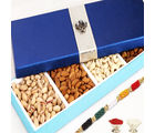 Blue Dryfruit Long Box, 400 gms