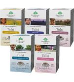 Set Of 5 - Tulsi Tea 18 Tea Bags Box (18 Tea Bags)