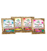 Organic India Gulal Pack of Four(One Pack of each color), multicolor, 50 gm