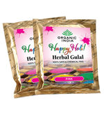 Organic India Gulal Pack of Eight(Two Pack of Each Color), multicolor, 50 gm