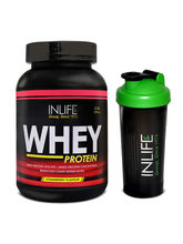 INLIFE Whey Protein 2Lb (Strawberry Flavour) With ...