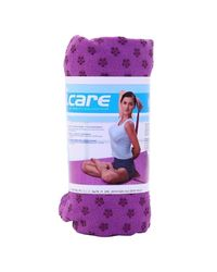 I Care Yoga Mat Towel, purple