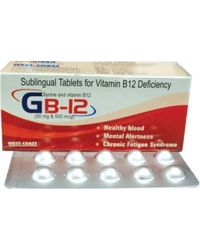 WestCoast GB-12 Sublingual Vitamin B12 Deficiency 100 Tablets