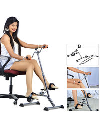 Kawachi Plastic Metal Total Body Excerciser With Adjustable Height Cum Cardio Cycle, silver