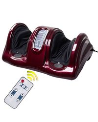Kawachi Shiatsu Foot Calf Massager Kneading And Rolling Leg Calf Ankle Pressing Massage,  maroon