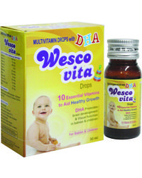 WestCoast Wesco Vita Drops Multivitamin Drops With DHA For baby & children 30 ml - Pack of 4