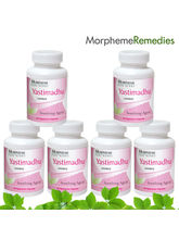 Morpheme Licorice (Yastimadhu) Supplements - 500mg Extract - 60 Veg Capsules - 6 Combo Pack