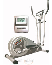 ProBodyline Very Stylish Domestic Elliptical Trainer With 8 Level Magnetic Resistance, silver